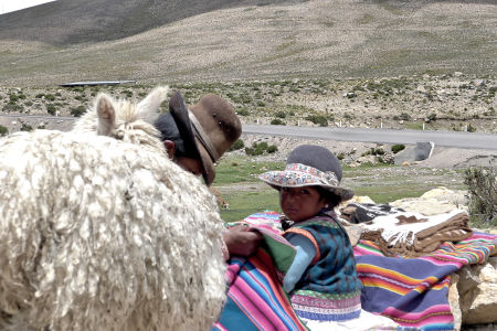 Natives at the Colca Canyon, Peru.