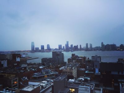 Atop the NYC TED Talk HQ, lower Manhattan.