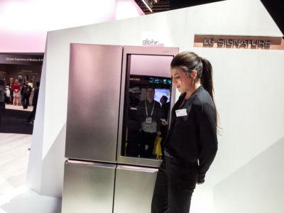 Framtidens kylskåp i Las Vegas