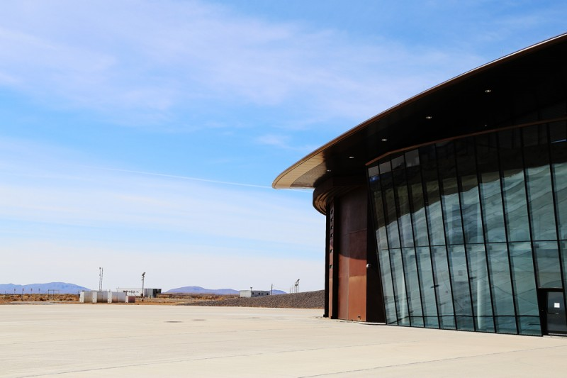 Hangarbyggnaden vid Spaceport America.