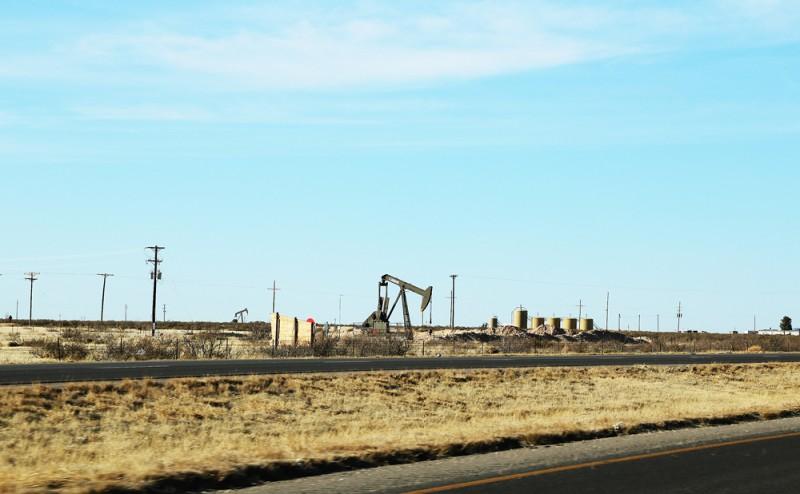 En pump, eventuellt en av Texas oljekällor.