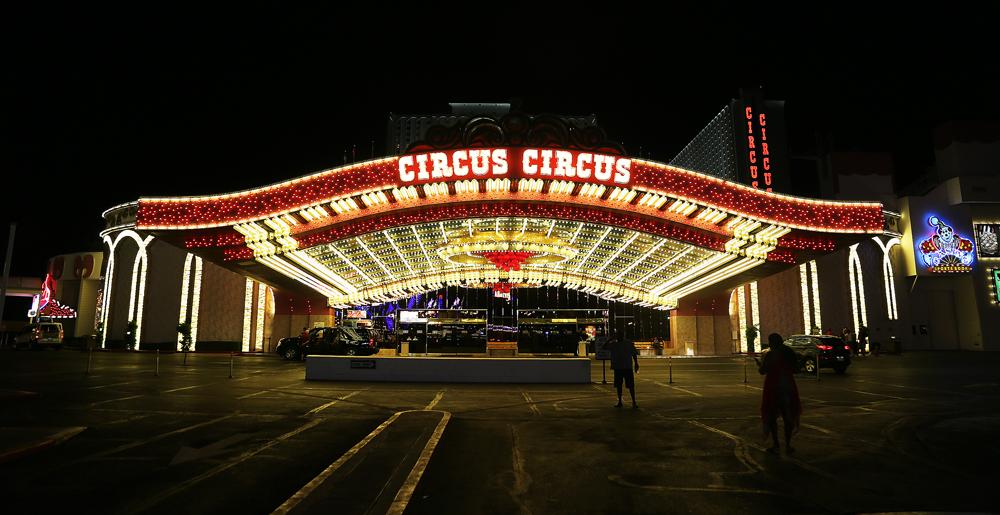 Entrén till Circus Circus, byggt på 1960-taket.