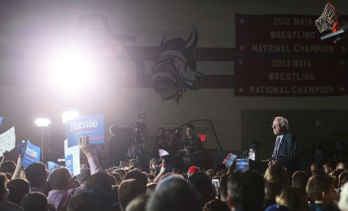 Bernie Sanders campaigning in 2016
