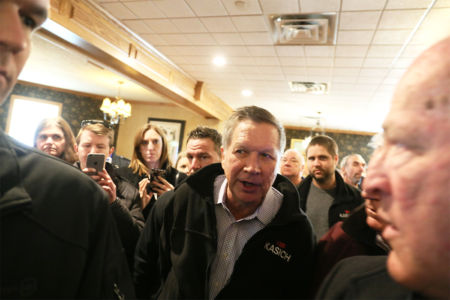 Kasich on the campaign trail