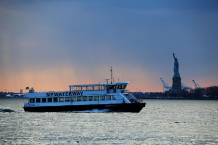 NYC-statue-boat