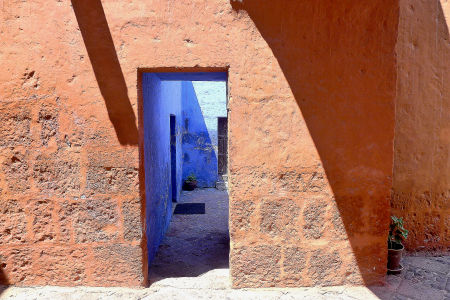 The Santa Catalina Monastery in Arequipa, Peru.