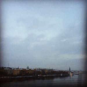 Stockholm från Västerbron 4 jan 2016