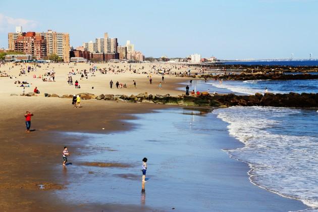 Stranden vid Coney Island.