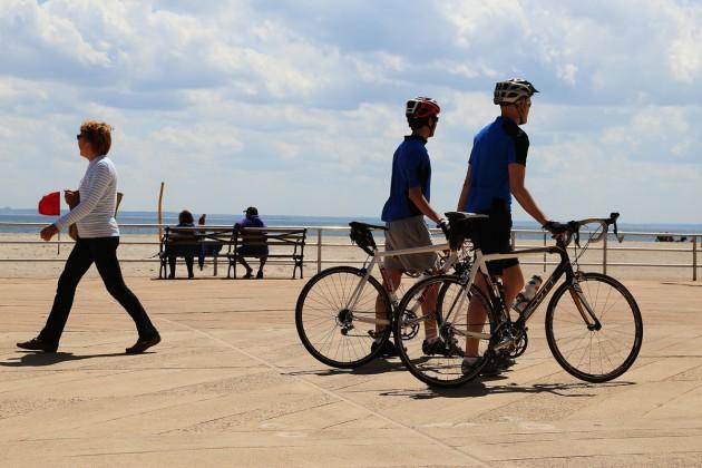 Strandpromenaden vid Coney Island.