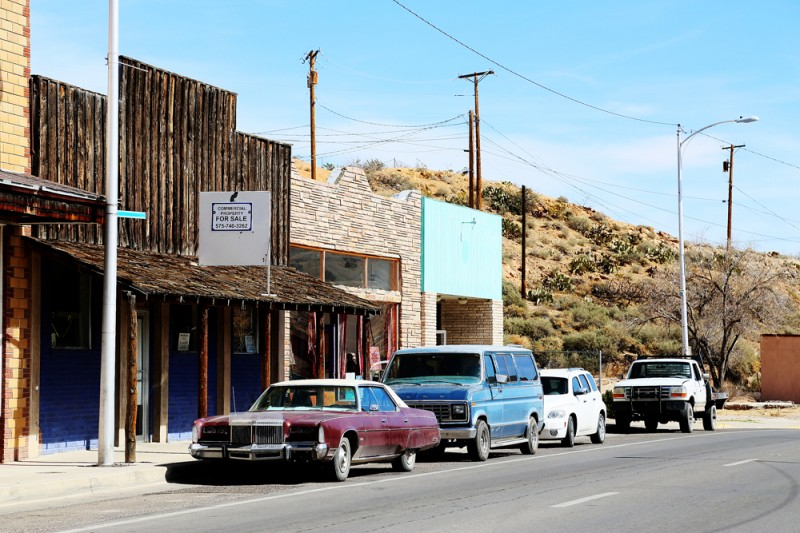 Huvudgatan i Truth or Consequences, new Mexico.