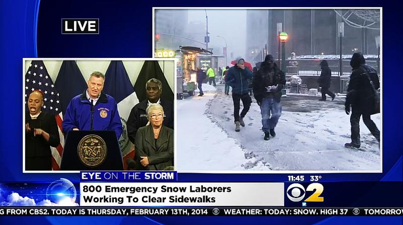 New Yorks borgmästare Bill de Blasio presenterade sin budget i onsdags och försvarade sig mot reportrar i torsdags, som undrade om han inte borde ha stängt stadens skolor.