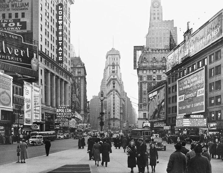 Times Square på 1930-talet. Foto: New Yorks stadsarkiv