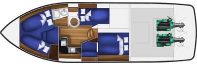 Planritning över en Fortina 42.