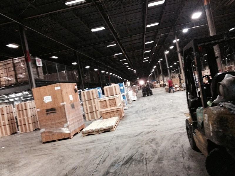 Logistikcentralen i New Jersey.