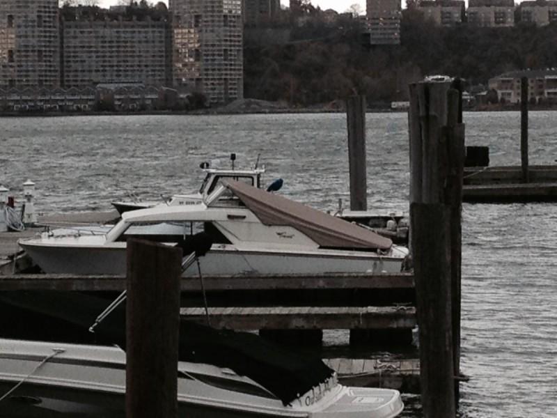 En Coronet 24 DeLuxe i Hudson River.