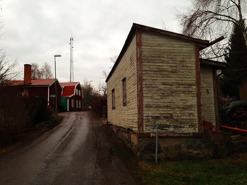 Ett gammalt uthus.