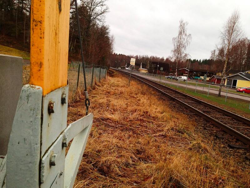 Järnvägsövergången i Bestorp.