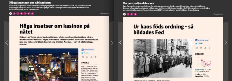 Artiklarna om Bernanke och nätkasinon på nliv.se.