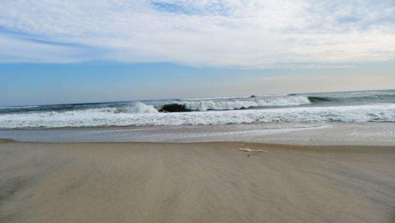 Rejäla vågor rullar in.