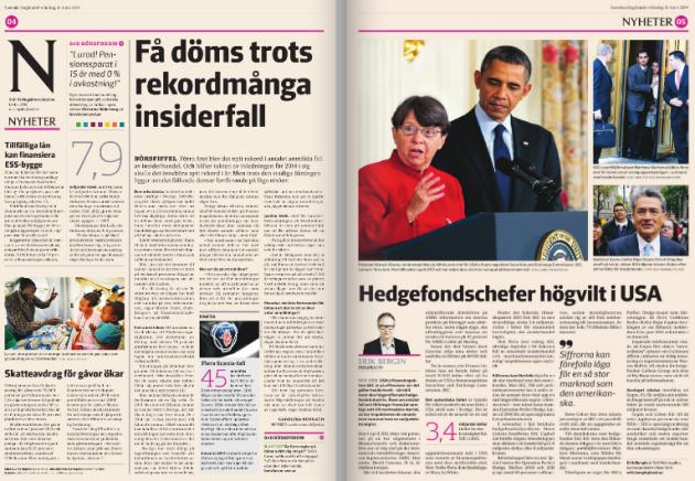 4-5:an i SvD Näringsliv måndag 31/3 2014.