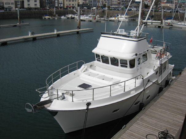 En Nordhavn 40 som är till salu i Storbritannien. Pris: 678 000 dollar...