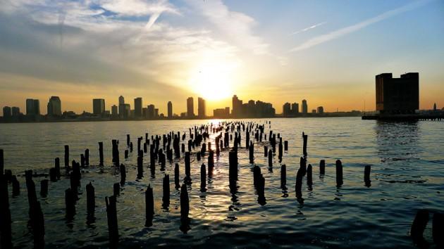 Solnedgång över New Jersey.