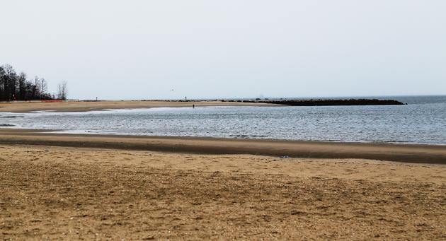Orchard Beach, The Bronx. Stranden är konstgjord och byggdes 1934.