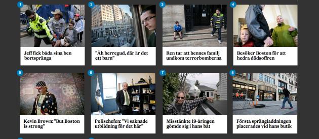 Åtta personer berättar om terrorn vid Boston Marathon 2013. Från SvD.se.