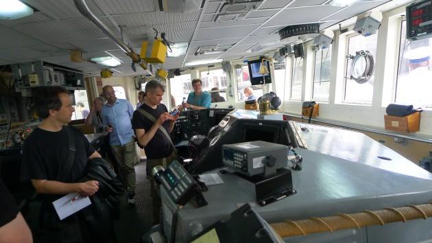 Bryggan på Campbell, ett kustbevakningsfartyg.