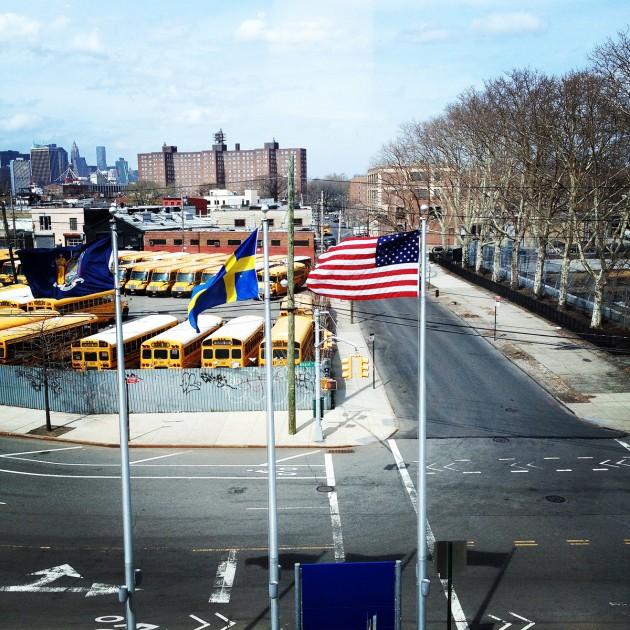 Utsikten från Ikearestaurangen i Brooklyn.