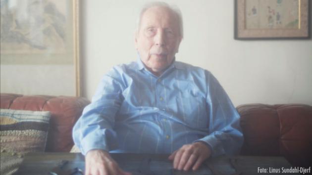 David Toren, 89, numera pensionerad advokat i New York. Foto: Linus Sondahl-Djerf
