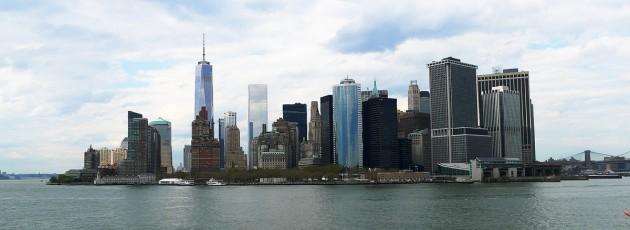 Manhattans södra spets sedd från sjösidan.