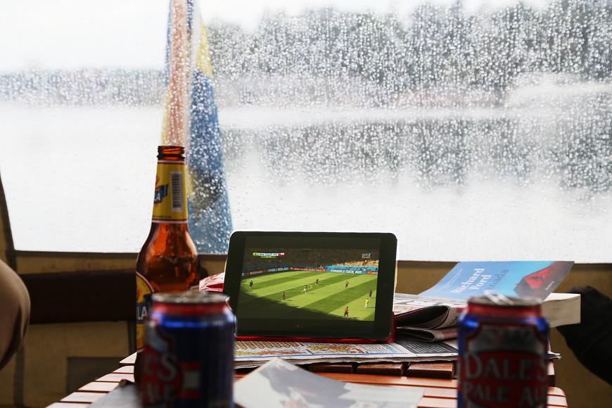 Fotbolls-VM på Ipad sommaren 2014.