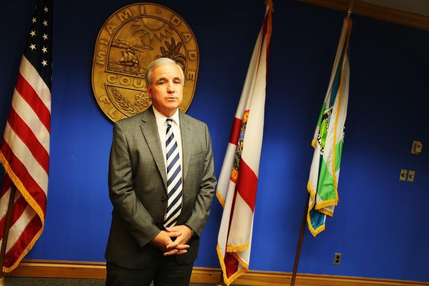 Miami-Dade Countys borgmästare Carlos Gimenez. Foto: Erik Bergin